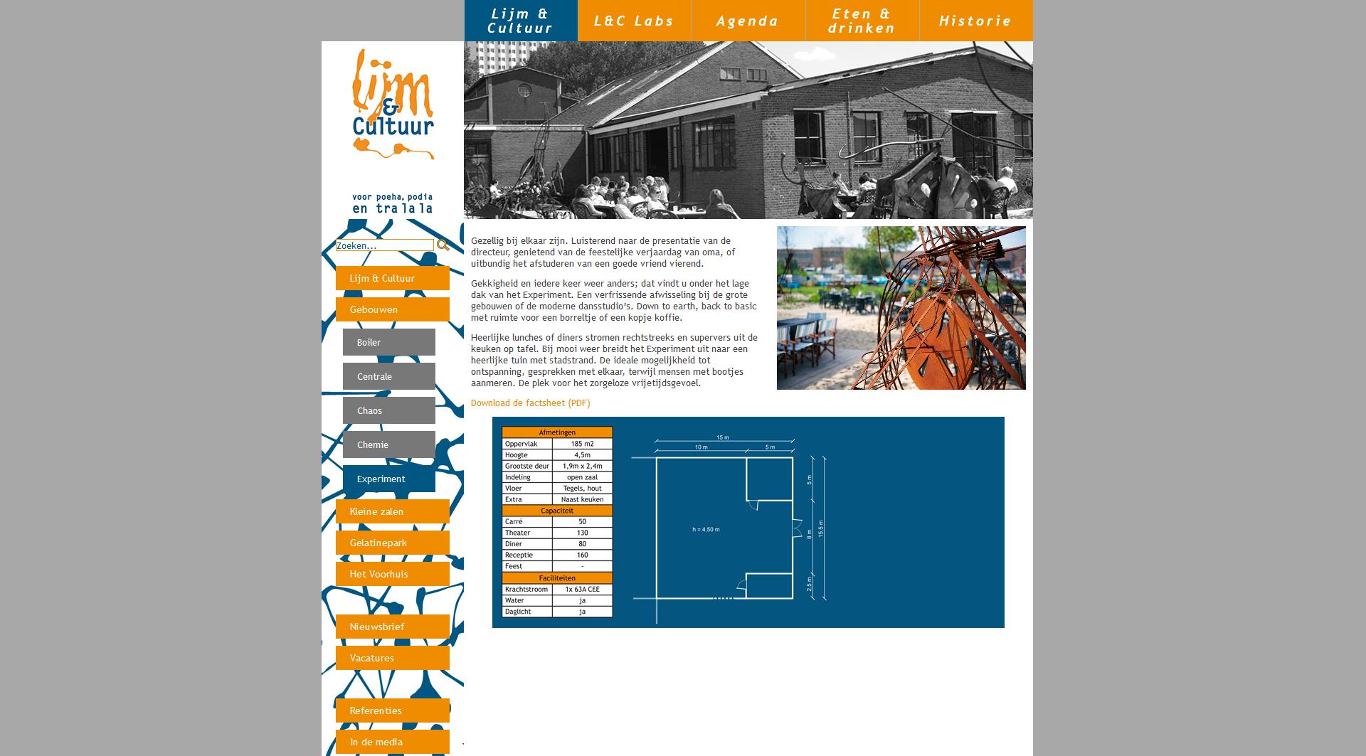 Gebouwenpagina op de website van Lijm & Cultuur