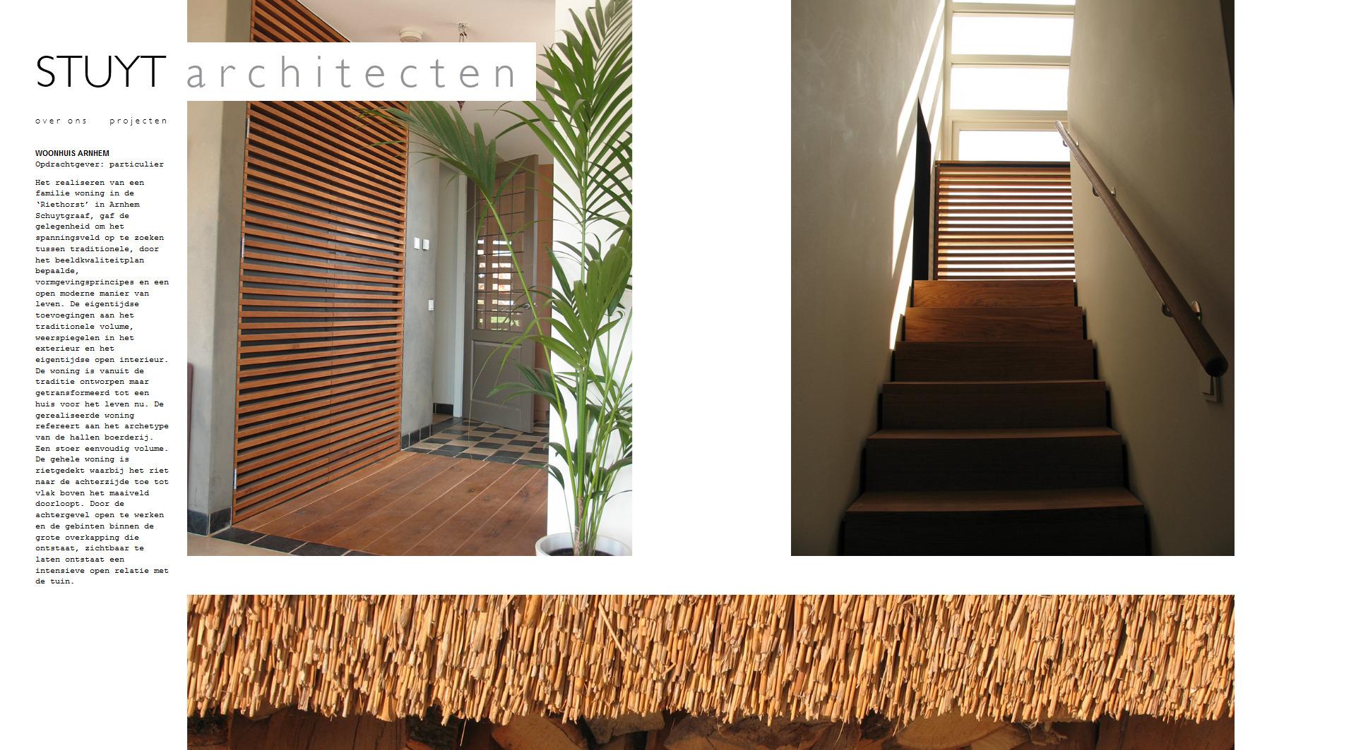 Projectpagina op de website van STUYT architecten